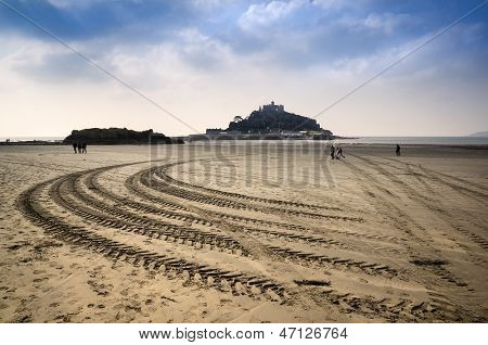 St Michael's Mount Bay Marazion low tide landscape