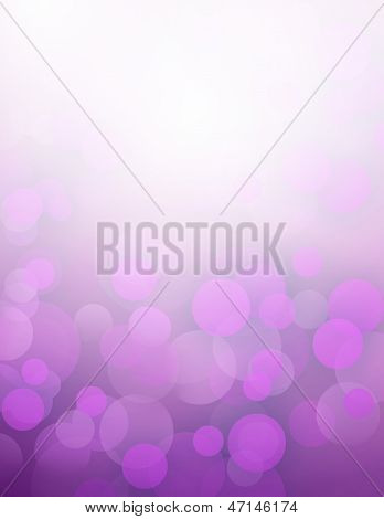 Purple Bokeh Abstract Light Background.