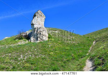 """Cretaceous outcrops nature reserve """"Divnogorie"""" Voronezh region Russia poster"""