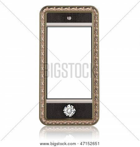 Gold phone with touch screen technology