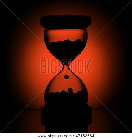 silhouette of time