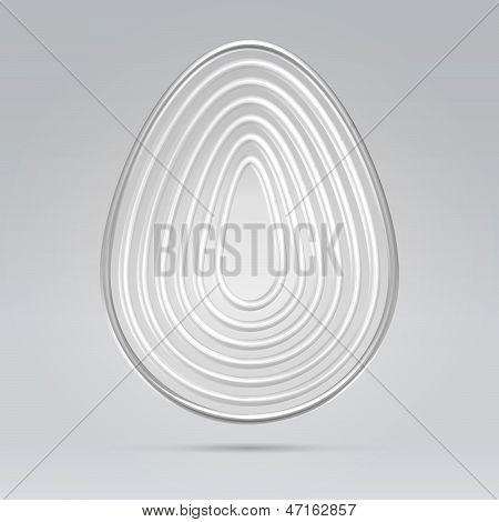 Silver Wire Egg Concept Illustration