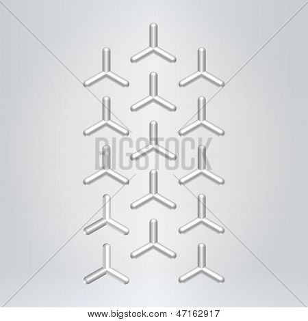 Silver Abstract Pattern Background