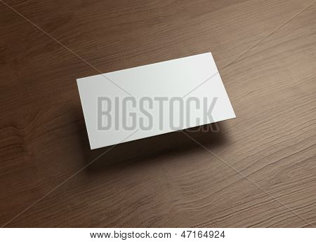 Namecard Horizontal Left Float Style Wood
