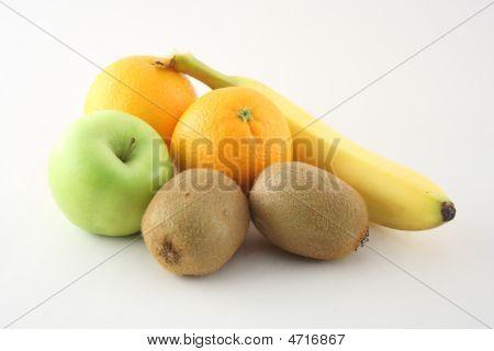 Isolated Fruits On White