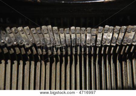 Keys Of Antique Typewriter