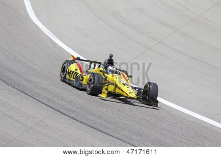 Fort Worth, TX - Jun 07, 2013:  Graham Rahal (15) takes to the track for a practice session for the Firestone 550 race at the Texas Motor Speedway in Fort Worth, TX on June 07, 2013.