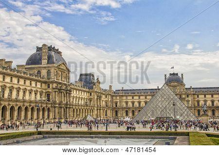 The Louvre Museum facade, Paris