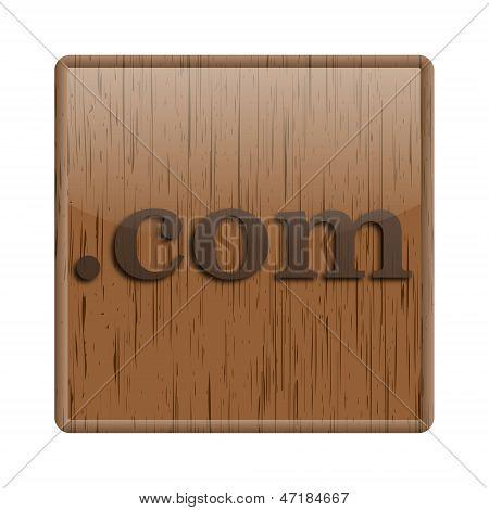 Ícone brilhante madeira