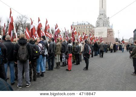 Ultra Nationalists At Freedom Monument
