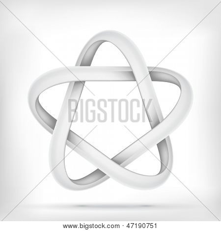 Star infinite loop abstract design template. Vector icon. poster