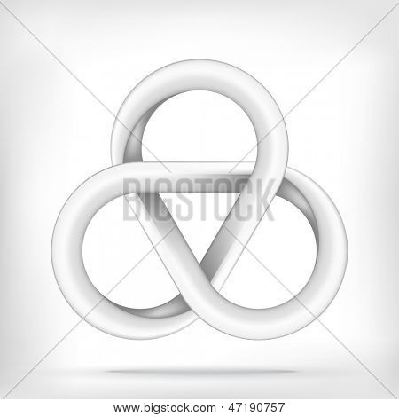 Smooth star infinite loop abstract design template. Vector icon.