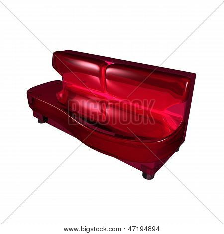 Decorative Sofa Plexiglas Model On