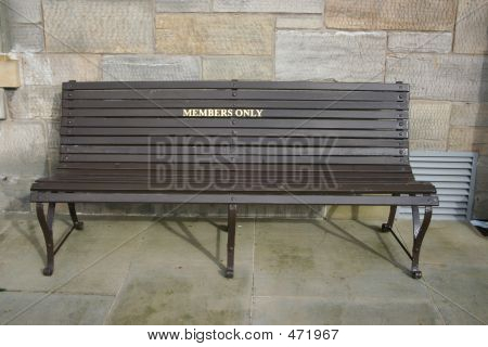 Members Only Bench