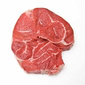 Stewing steak, beef shin isolated on a white studio background. poster