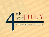 4th of July, American Independence Day background. poster