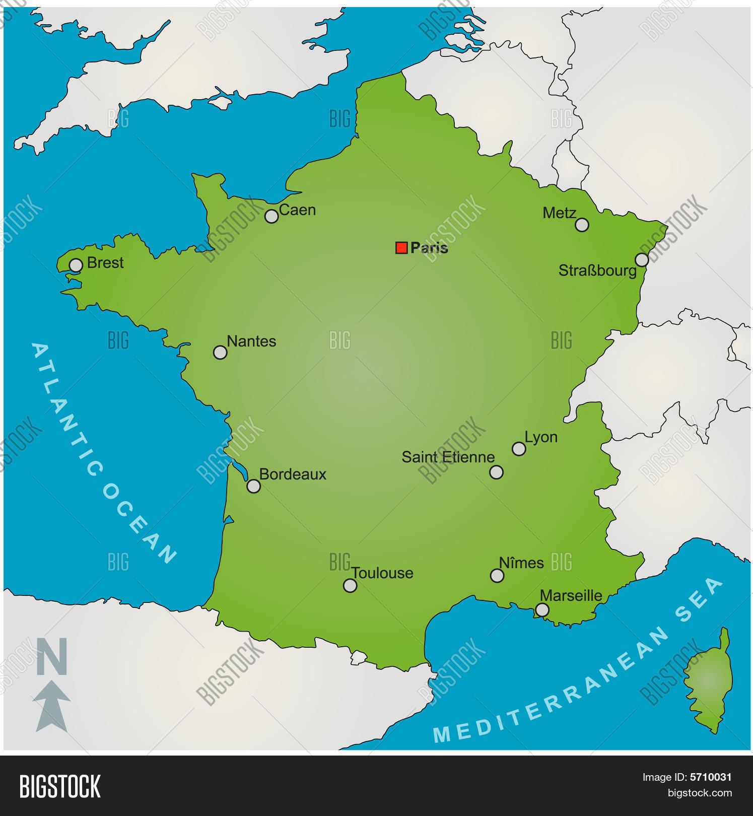 Map Of France Showing Nice.Map France Vector Photo Free Trial Bigstock