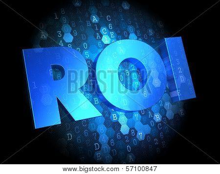 ROI on Dark Digital Background.