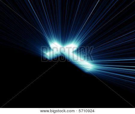 Cross blue lights