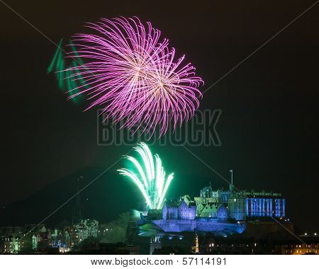 Edinburgh Fireworks Scotland Uk