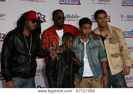 Sean 'P Diddy' Combs and Family at the 2011 T-Mobile NBA All-Star Game, Staples Center, Los Angeles, CA 02-20-11