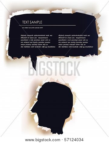 Abstract illustration of thinking person
