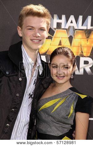 Kenton Duty and Ariel Winter at Cartoon Network's first ever