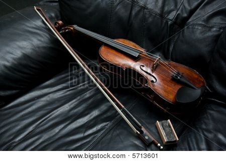 Violin On The Couch and bow
