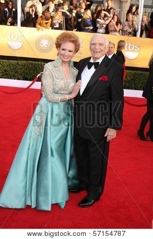 Ernest Borgnine and wife at the 17th Annual Screen Actors Guild Awards, Shrine Auditorium, Los Angeles, CA. 01-30-11