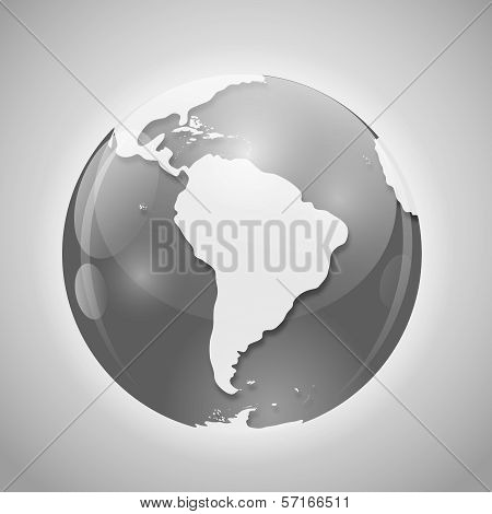 Globe with Mail Vector Illustration