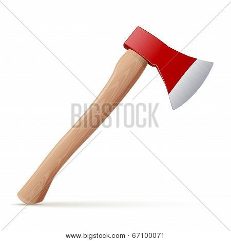 Detailed Axe Tool Isolated On White Background. Vector Illustration