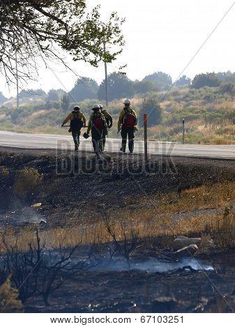 Fire Fighters Walking