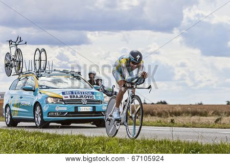 The Cyclist Janez Brajkovic