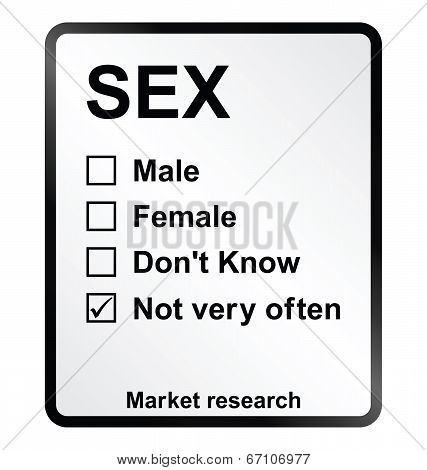 Market Research Sex Sign