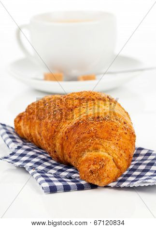 Croissant With Caffee Cup