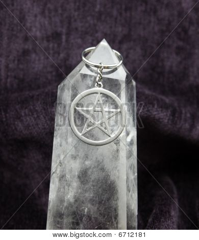 Pentacle On Huge Crystal