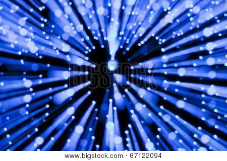Blue lights blur zoom