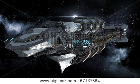 Alien Mothership in deep space travel