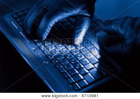 Hände der hacker