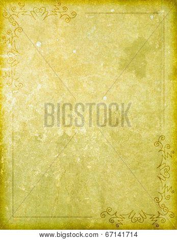 Paper Background With Corner Design Border
