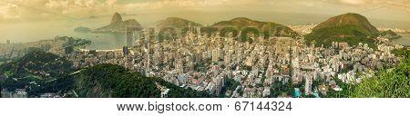 Panoramic View Of Rio Citycsape