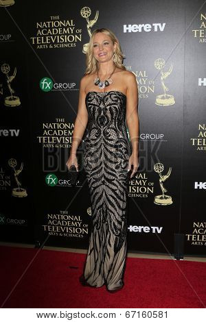 BEVERLY HILLS - JUN 22: Sharon Case at The 41st Annual Daytime Emmy Awards at The Beverly Hilton Hotel on June 22, 2014 in Beverly Hills, California
