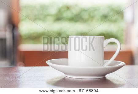 White Cup Of Espresso Shot