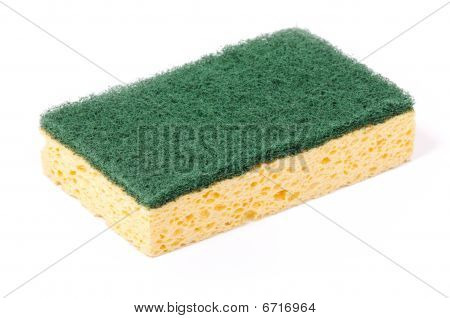 Kitchen Sponge In A White Background