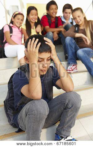 Boy being bullied in school poster