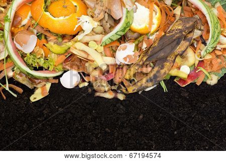 Compost with composted soil