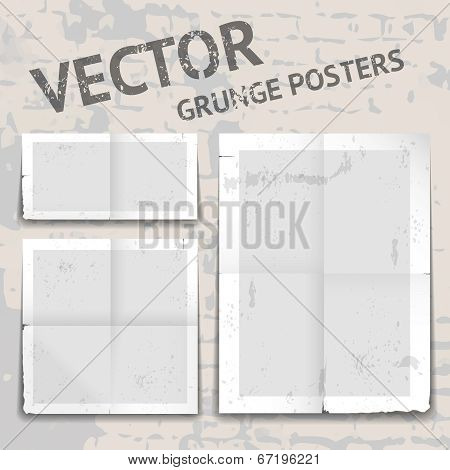 Vector grunge posters