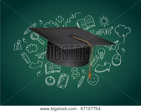 Graduation Concept Vector Illustration