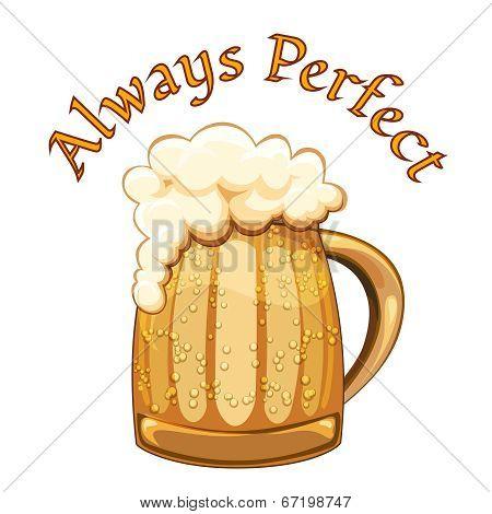 Always Perfect beer poster