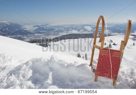 Winter Scenery With Sledge